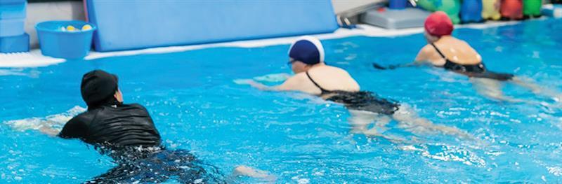התעמלות למבוגרים במים חמים